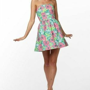 Lilly Pulitzer Lottie Dress Green Bloomin Cacoonin